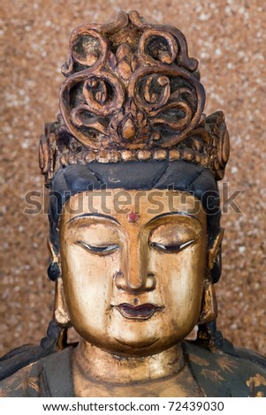 Buddha face Chinese style - stock photo
