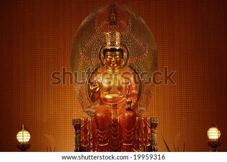 Buddha god in the temple