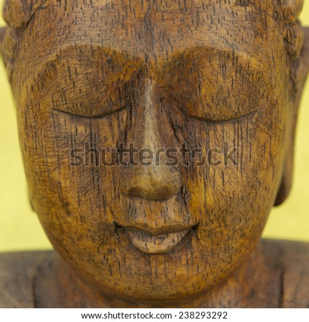 Buddha head - stock photo