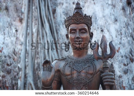 Buddha image and place of religion art, Chiang Mai, Thailand