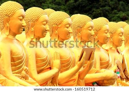 Buddha in Thailand. - stock photo
