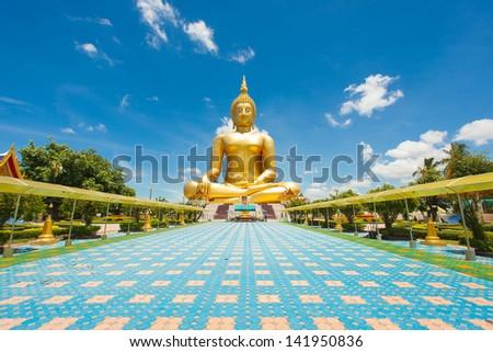 Buddha meditation statue in Thailand - stock photo