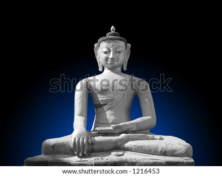 Buddha of Stillness and resists temptation. - stock photo
