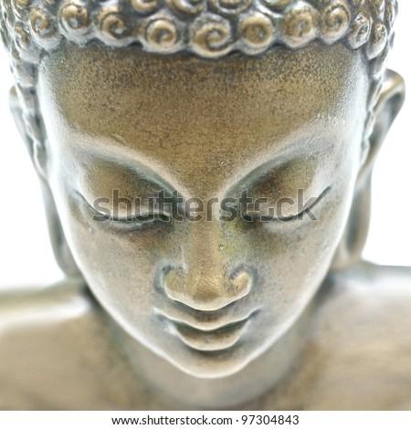 Buddha portrait isolated on white - stock photo