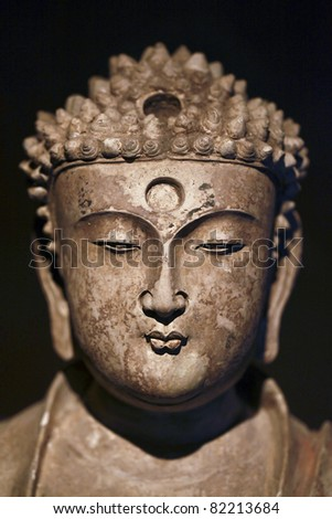 Buddha's head - stock photo