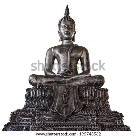 Buddha Sitting isolated on white background - stock photo