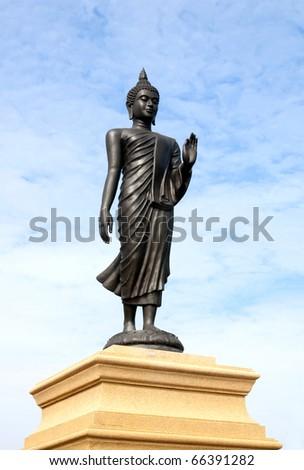 Buddha stand - stock photo