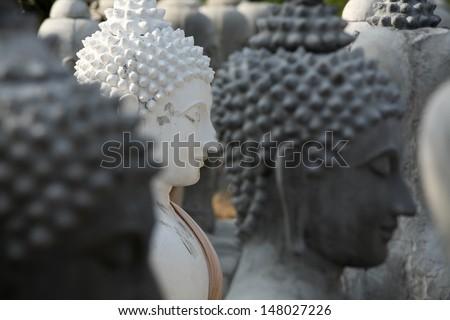 buddha statue. - stock photo