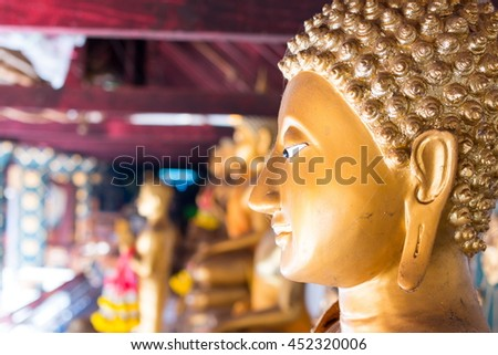 Buddha statue at a Temple, Chiang Mai, Thailand - stock photo