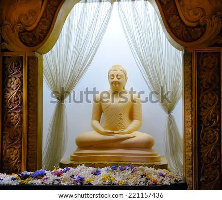 Buddha statue at the temple - stock photo