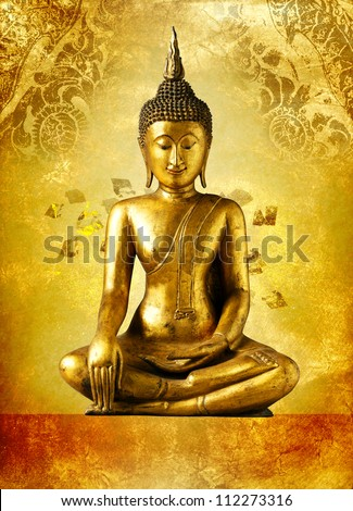 Buddha statue, Bangkok Thailand - stock photo