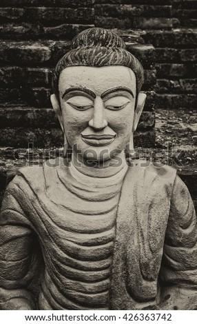 Buddha statue,buddha image,Buddhism  - stock photo