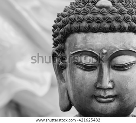 Buddha statue buddha image used as amulets of Buddhism religion - stock photo