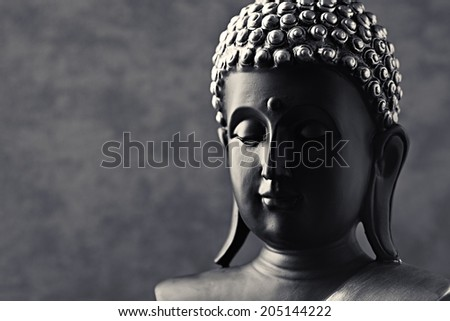 Buddha Statue (close-up) - stock photo