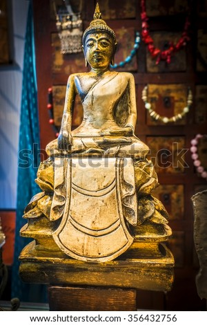 buddha statue in a shop/store in thailand