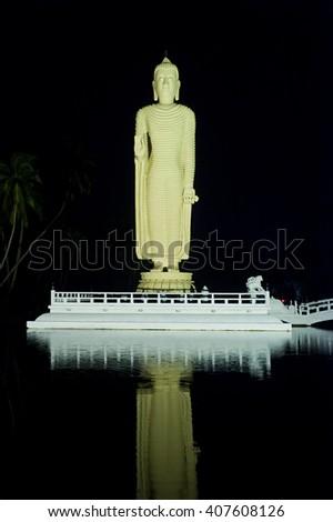Buddha statue in Hikkaduwa, Sri Lanka - stock photo