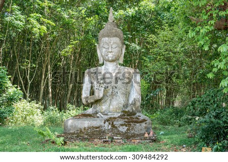 Buddha statue , in southern of Thailand. - stock photo