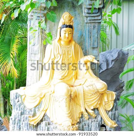 Buddha statue in Taiwan - stock photo