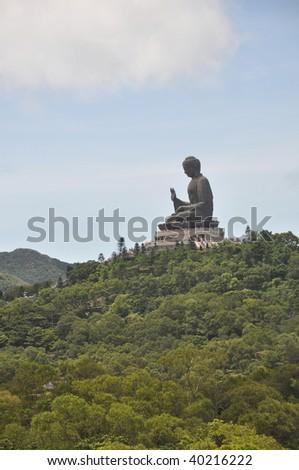 Buddha Statue Mountain - stock photo