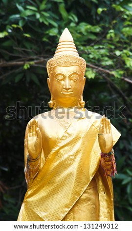 Buddha statue.Native Thai style and this is Traditional and generic style in Thailand . no any trademark or restrict matter in this photo - stock photo