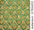 Buddha wall of Thai style pattern design - stock photo