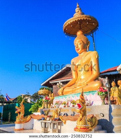 Buddha wat luang,at Pai in Mae Hong Son Thailand, They are public domain or treasure of Buddhism, no restrict in copy or use  - stock photo
