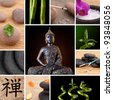 Buddha Zen Asia Collage - stock photo
