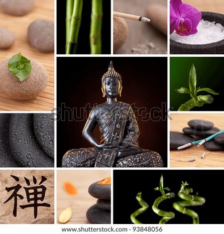 Buddha Zen Asia Collage - stock photo