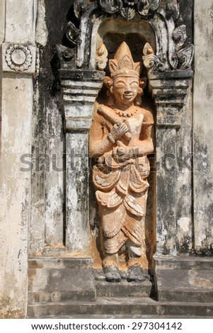 Buddhism statue at Ing Hang Stupa in Savannakhet of Lao P.D.R.