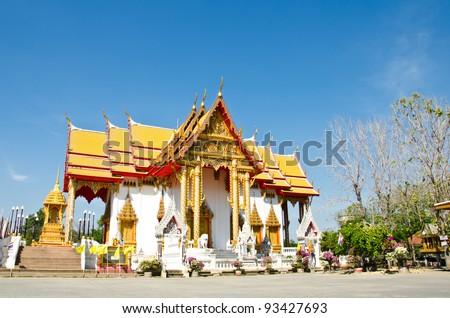 Buddhist Church is place of worship, Lopburi, Thailand. - stock photo