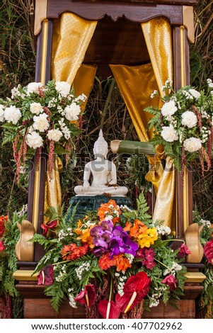 Buddhist lent songkran festival - stock photo