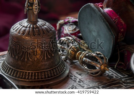 Buddhist religious equipment - Vajra Dorje and bell