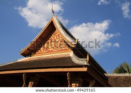 buddhist temple in luang prabang (laos)