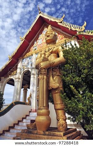 Buddhist temple in Pakse, Laos - stock photo