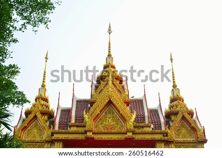 Buddhist temple roof in Thailand.