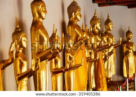 Buddhist temple, Wat Pho in Bangkok ,Asia Thailand - stock photo
