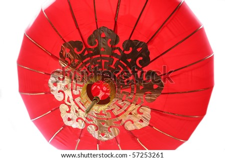 buddish decoration lantern closeup - stock photo