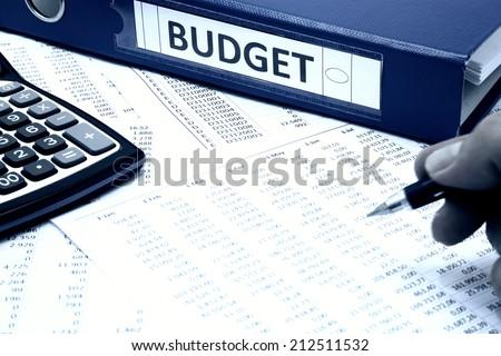 Budget Concept - stock photo