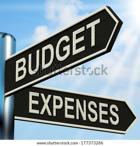 Budget Expenses Signpost Meaning Business Accounting And Balance - stock photo