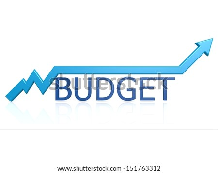 Budget graph - stock photo