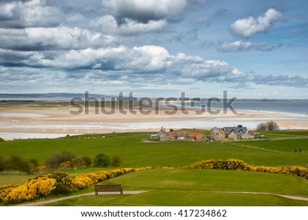 Budle Bay on the coast of Northumberland in England