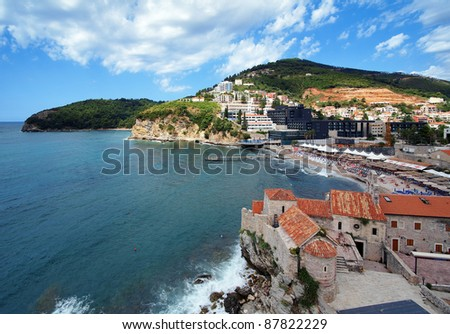 Budva coast and Old Town, Montenegro