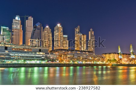 Buenos Aires Cityscape, Capital City of Argentina - stock photo