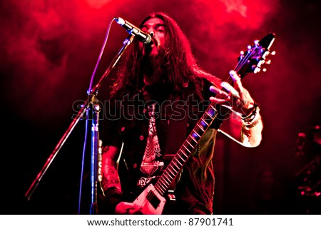BUENOS AIRES - OCTOBER 21: MACHINE HEAD performs onstage at El Teatro de Flores Concert Hall October 21, 2011 in Buenos Aires, Argentina.