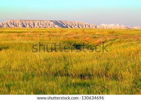 Buffalo Gap National Grassland - stock photo