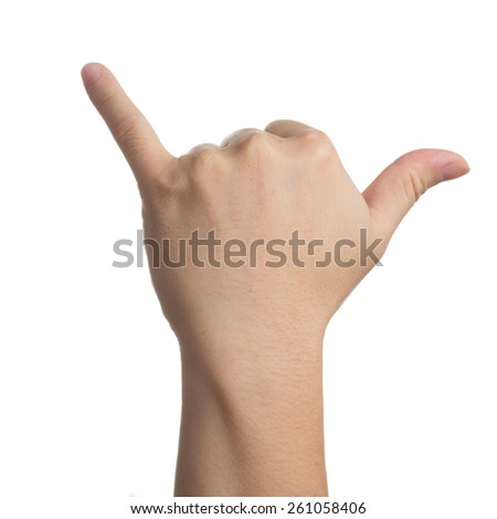 Buffalo hand signal - stock photo