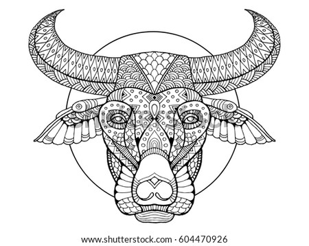 Hand drawn coloring pages giraffe zentangle stock vector for Buffalo soldiers coloring pages
