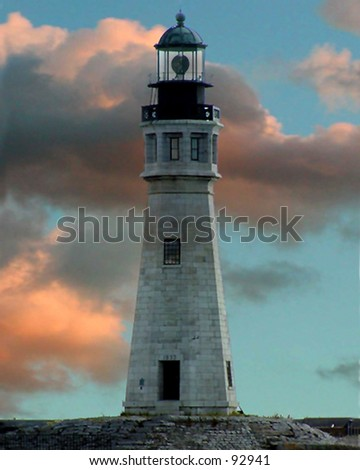 Buffalo Lighthouse - stock photo