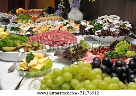 buffet - stock photo