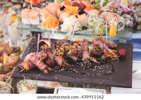 Buffet Brunch Food Eating Festive Cafe Dining Concept